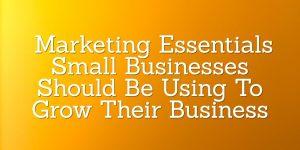 Marketing Essentials - Lead Flow Method